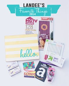 Favorite Things Gift Guide and Giveaway at landeelu.com ends 11-12-14
