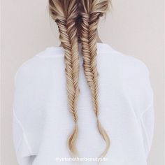 Fishtail braid pigtails on @josieswall by @yetanotherbeautysite