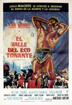Movie Poster Mondays - MACISTE IN THE VALLEY OF THE THUNDERING ECHOES (aka Hercules of the Desert)