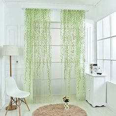 Norbi Willow Voile Tulle Room Window Curtain Sheer Voile ...