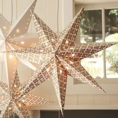 Loving the Gold Star Pendant. #lighting #nursery