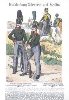 Band II #11 -  Mecklenburg-Schwerin. Mecklenburg-Strelitz. Freiwillige Jäger 1814-14. .
