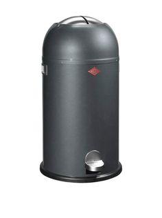 Wesco Kickmaster Pedaalemmer - 33 l - Grafiet House Doctor, Sensor Bins, Bathroom Bin, Plastic Bins, Retro Ideas, Recycling Bins, Cuisines Design, Galvanized Steel, Retro Design