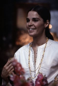 """Ali MacGraw in New York City, 1969--that we watched LOVE STORY and the """"Susquehanna"""" raised a few inches, says my dear dad"""
