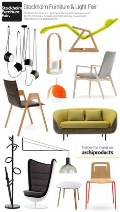Stockholm Furniture and Light Fair 2015 is starting today and goes on till the 7th of February. Companies present so many new products, follow the event on archiproducts!