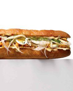 Chickpea Sub Sandwich / Martha Stewart