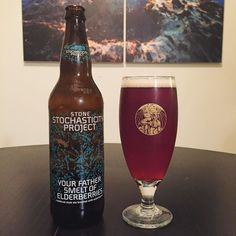 New @stonebrewingco Stochasticity Project Your Father Smelt of Elderberries - a medieval style ale with elderberries that balances rich malty breadiness and fruity smooth flavors. The perfect beer for storming a castle or embarking on an epic quest #smelderberries