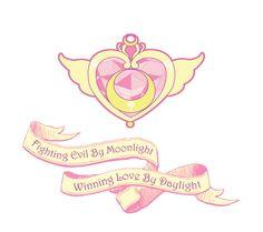 Sailor Moon - Fighting Evil by Moonlight, Winning Love by Daylight T- shirt