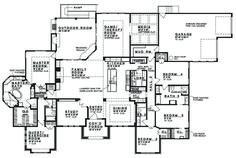 Prairie Style House Plan - 5 Beds 4 Baths 4545 Sq/Ft Plan #935-13 Floor Plan - Main Floor Plan - Houseplans.com
