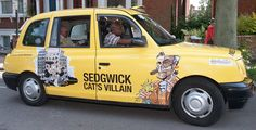 Since around my cartoon illustrations have been displayed on a London Taxi cabs travelling around London and Edinburgh for a whole month. Taxi, Travel Around, Cartoon, London, News, Engineer Cartoon, Comic
