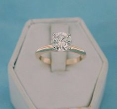 14kt Yellow Gold 1.48ct Diamond Solitaire Wedding Engagement Ring Size 6 | eBay