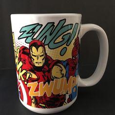 Zak Designs Marvel Avengers Coffee Mug Spider-Man Iron Man Hulk Captain America #ZakDesigns #coffeemug