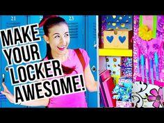 Back To School Locker Organization & DIY Decorations | Tumblr Inspired! - YouTube