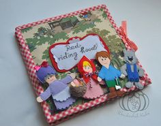 Little Red Riding Hood quiet book page Personal wishes Simple Pages Personalized quiet book activity book felt book busy book. A unique home theater is a tool for small children. Interesting design of the book. In the book Little Red Riding Hood 6 pages, one of the pages is a forest. If