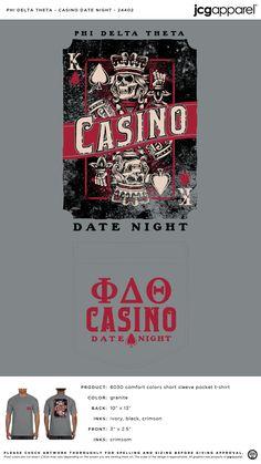 Phi Delta Theta Casino Date Night Shirt | Fraternity Casino Date Night | Greek Casino Date Night #phideltatheta #phidelt #Casino #Date #Night #cards