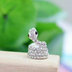 $2.79 New Arrival Rhinestone Embellished Snake Shape Cellphone Dustproof Plug