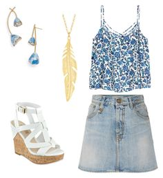 """""""find me where the wild things are"""" by abbeyelizabeth5 ❤ liked on Polyvore featuring R13, GUESS and Tory Burch"""