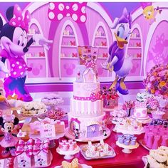 Mickey And Minnie Cake, Minnie Mouse Party, Mouse Parties, Minnie Birthday, 3rd Birthday Parties, 2nd Birthday, Minnie Boutique, Disney Princess Party, Baby Party