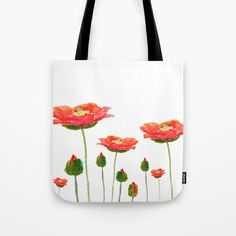 red+poppy+Tote+Bag+by+Color+And+Color+-+$22.00