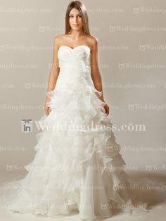 Unique Tiered Organza Wedding Dress   http://www.inweddingdress.com/style-de193.html