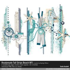 Readymade Tall Strips: Beach No. 01- Studio Double-D Elements- EL755980- DesignerDigitals