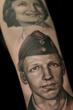 I want a tattoo done of my granddaddy when he was in the military!! He was and always will be my hero <3