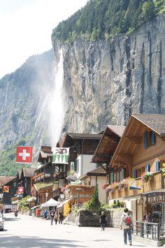 Lauterbrunnen with the Staubbachfall, Switzerland