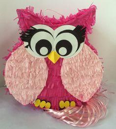 Pink Owl Pinata
