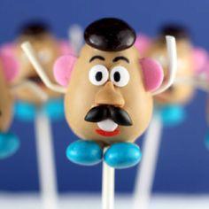 Mr. Potato Head cake pops :)