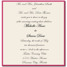Wedding Invitation Wording Both Parents U2013 Giant Design Wedding Invite  Quotes | Fav Wedding Style
