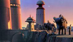 Tatooine (11) - Banthas e Torres Ralph McQuarrie e os Storyboards de Star Wars