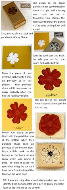 How to mount your Flower Shop Stamps from Stampin' Up!  Check Bekka's blog for more information