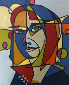 """Lucie Bergeron dit """"Otis"""",Hélène , huile sur toile 24""""x30"""" 2014"""