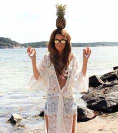 nettenestea annette haga ananas strand pineapple sommer kimono outfit inspo antrekk klær mote blogg moteblogg inspirasjon lysekil hytte juli 2014