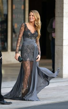 Blake Lively and her beautiful dress (and very funny shoes)