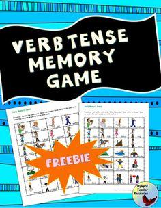 ESL EFL | Beginner | Newcomer | Simple Present Past Tense Verbs Memory Game