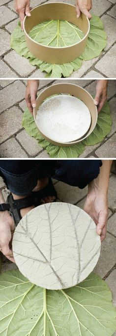 garten ideen ausgefallenen gartenweg gestalten zement (Diy Garden Crafts)