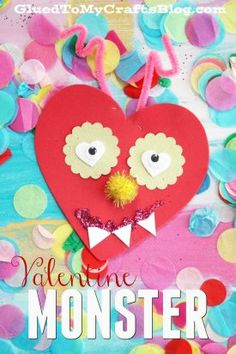 Valentine Art Project Ideas Using Craft Foam Hearts - Glued To My Crafts Valentine Love, Kinder Valentines, Diy Valentines Cards, Valentines For Boys, Valentine Ideas, Preschool Valentine Crafts, St Patricks Day Crafts For Kids, Valentine's Day Crafts For Kids, Valentinstag Party
