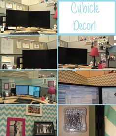 Cubicle Decor: Before and After