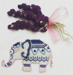 brick stitch elephant