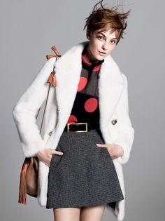caroline006 Caroline Trentini Rocks Colorful Fall Fashions for Vogue US by David Sims
