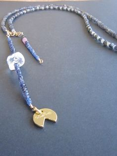 Blue Sapphire necklace 17A