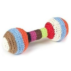 Striped Baby Rattle