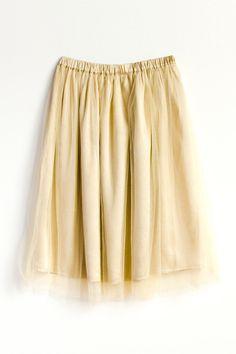 Layred Soft Tulle Skirt Beige by AtelierToiToiToi on Etsy