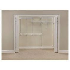 Unclutter any closet with the ClosetMaid ShelfTrack Wire Closet Organizer Kit. This easy-to-configure and adjustable wire organizer kit features hanging space, shelf space, and fits a closet from wide. All hardware and instructions are included. Closet Storage Systems, Best Closet Organization, Closet System, Shoe Storage, Wire Closet Shelving, Closet Shelves, Wire Shelves, Bedroom Shelves, Wire Closet Organizer