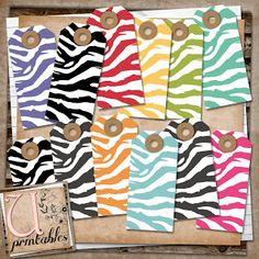 U printables by RebeccaB: FREE Printable - Zebra Tags
