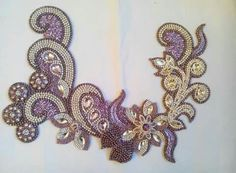 Tambour Beading, Tambour Embroidery, Couture Embroidery, Silk Ribbon Embroidery, Beaded Embroidery, Hand Embroidery, Embroidery Stitches Tutorial, Embroidery Designs, Motifs Perler