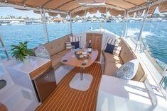Yacht Interior, Interior Design, Cuddy Cabin Boat, Cabin Cruiser Boat, Donald Trump Pictures, Boat Decor, Electric Boat, Perfect Model, Boats
