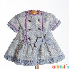 Vestido estampado con lazo para bebé de Dolce Petit.