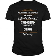 Awesome Tee QUIROZ Name tee Shirts T shirts